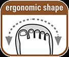 Закруглений ніс і ергономічна форма